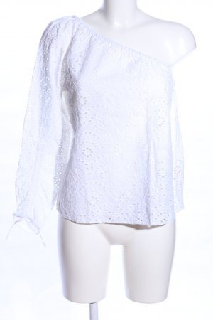 Only One Shoulder Top white business style