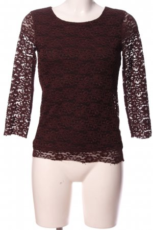 Only One Spitzenbluse rot Blumenmuster Casual-Look