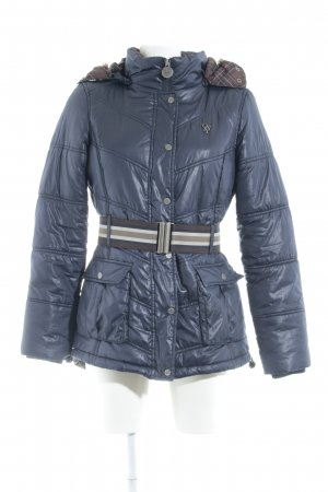 Only Outdoorjacke stahlblau Steppmuster Casual-Look