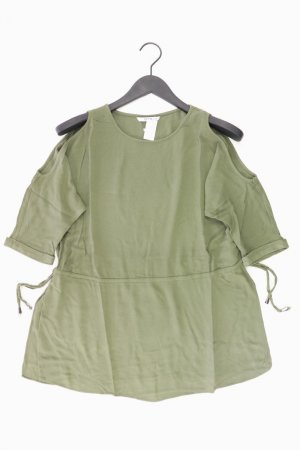 Only Oversize-Bluse Größe 38 mit Gürtel 3/4 Ärmel olivgrün aus Viskose