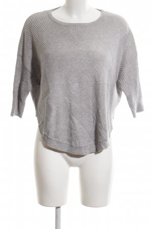 Only Oversized Pullover hellgrau meliert Casual-Look