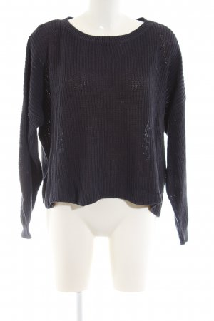 Only Oversized Pullover schwarz Zopfmuster Casual-Look