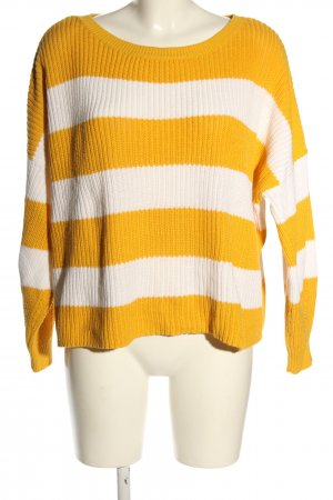 Only Oversized Sweater light orange-white allover print casual look