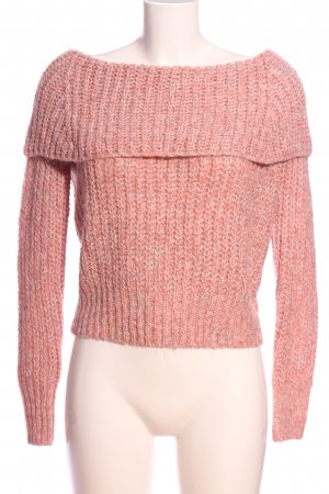 Only Oversized Pullover pink-weiß meliert Casual-Look