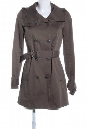 Only Pea Coat brown casual look