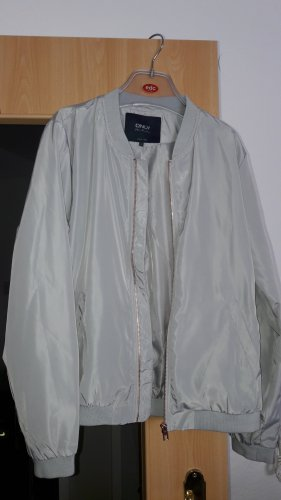 Only Flight Jacket silver-colored polyester
