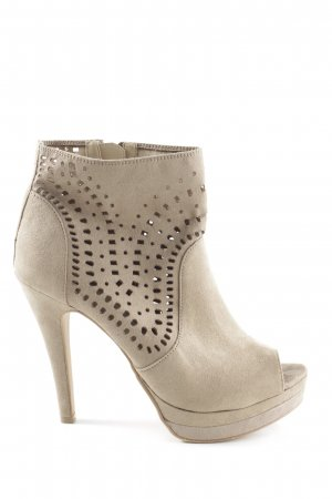 Only Pink Cut Out Booties cream-natural white elegant