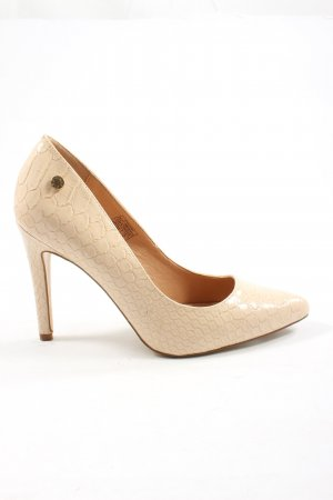 Only Pink High Heels creme Animalmuster Business-Look
