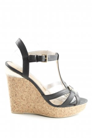 Only Pink Keil-Pumps schwarz-creme Casual-Look