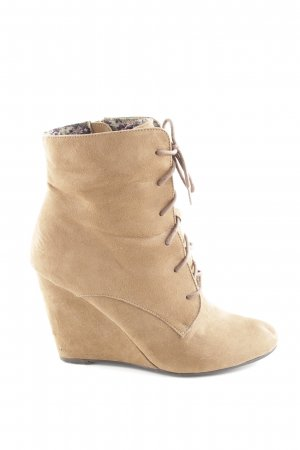 Only Pink Keil-Stiefeletten nude Casual-Look
