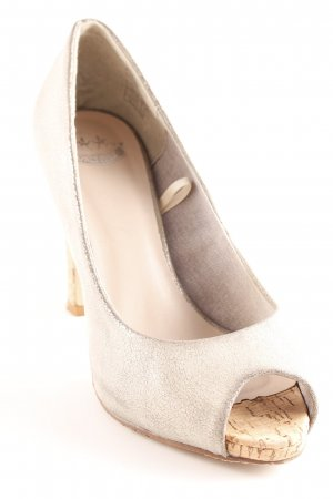 Only Pink Peeptoe Pumps silberfarben-camel Casual-Look