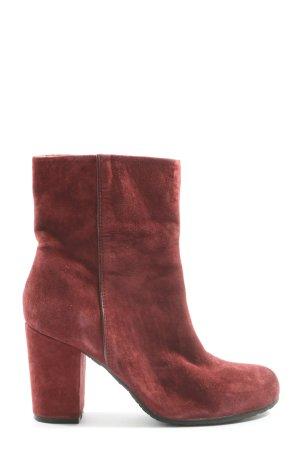 Only Pink Reißverschluss-Stiefeletten rot Casual-Look