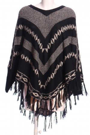 Only Poncho nero-bianco stile casual