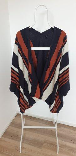 Only Poncho in maglia multicolore