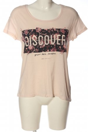 Only Print-Shirt pink Motivdruck Casual-Look