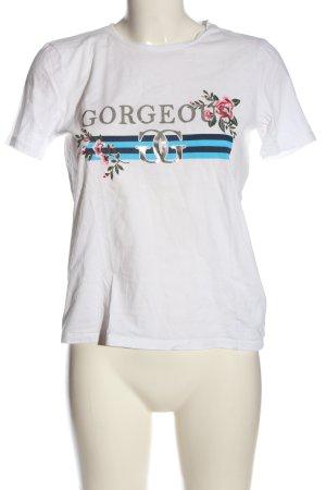 Only Print-Shirt Schriftzug gedruckt Casual-Look