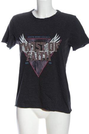 Only Print-Shirt schwarz Motivdruck Casual-Look