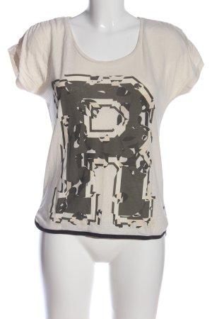 Only Print-Shirt creme-schwarz Motivdruck Casual-Look