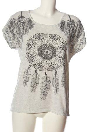 Only Print-Shirt hellgrau meliert Casual-Look