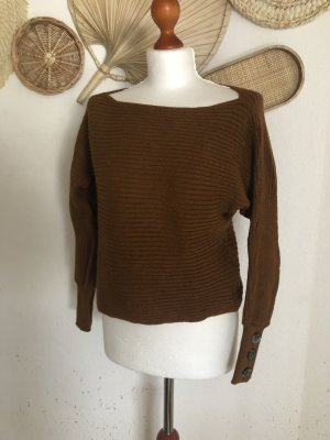 Only Pullover braun rostrot S