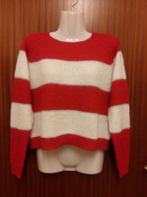 Only Pullover Gr. S/M  rot/weiß/silber