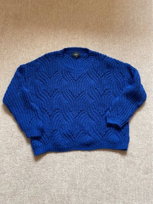 Only Sweter z grubej dzianiny niebieski