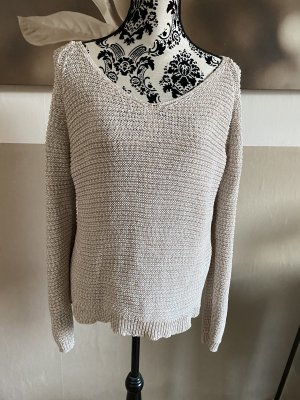 Only Pullover, Weiss / Beige, L