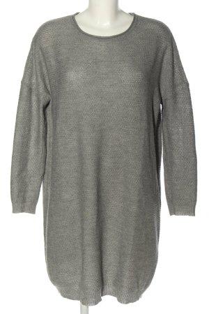 Only Pulloverkleid hellgrau meliert Casual-Look