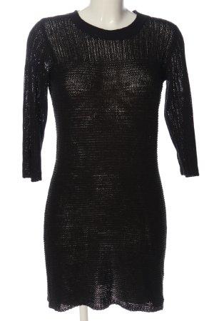 Only Vestido tipo jersey negro look casual