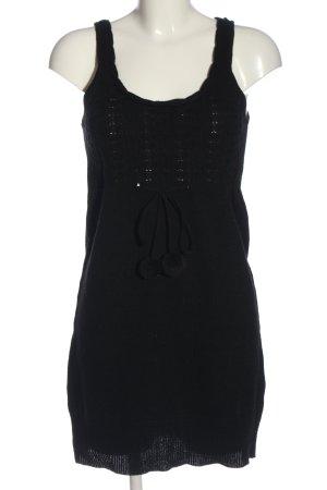 Only Pulloverkleid schwarz Zopfmuster Casual-Look
