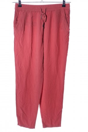 Only Pantalon large rouge style décontracté