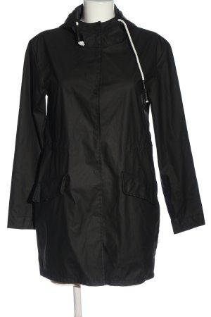 Only Płaszcz przeciwdeszczowy czarny W stylu casual