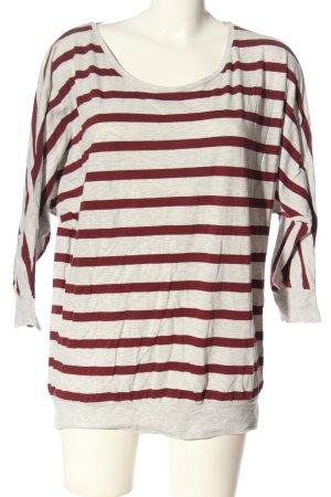 Only T-shirt rayé blanc cassé-rouge moucheté élégant
