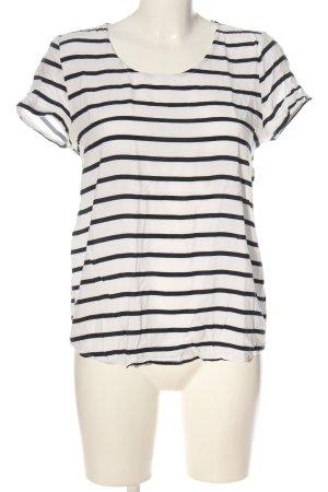 Only Camisa de rayas blanco-negro estampado a rayas look casual