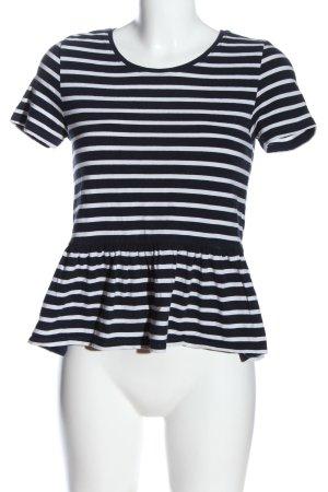 Only Koszulka w paski niebieski-biały Na całej powierzchni W stylu casual