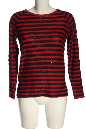 Only Koszulka w paski niebieski-czerwony Wzór w paski W stylu casual