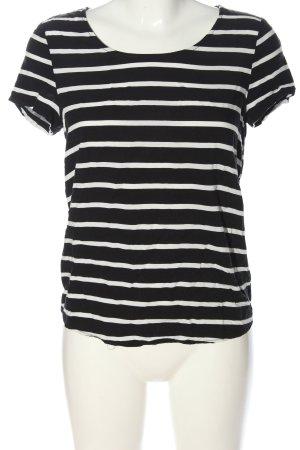 Only Ringelshirt schwarz-weiß Streifenmuster Casual-Look