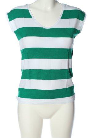 Only Gestreept shirt wit-groen gestreept patroon casual uitstraling