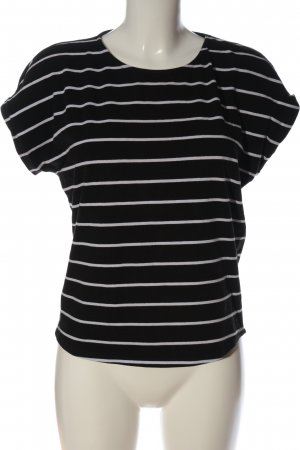 Only Stripe Shirt black-white allover print casual look