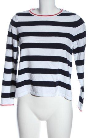 Only Camisa de rayas negro-blanco estampado a rayas look casual