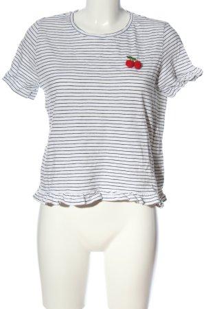 Only Maglietta a righe bianco-nero motivo a righe stile casual