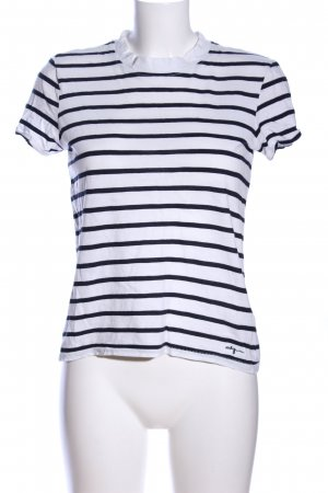Only Stripe Shirt white-black striped pattern casual look