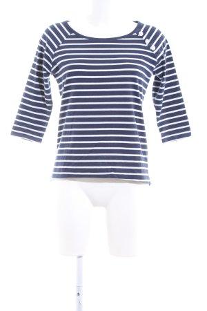 Only T-shirt rayé bleu-blanc motif rayé style décontracté