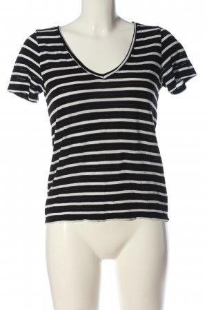 Only Stripe Shirt black-white striped pattern casual look