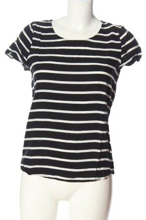 Only Koszulka w paski czarny-biały Na całej powierzchni W stylu casual
