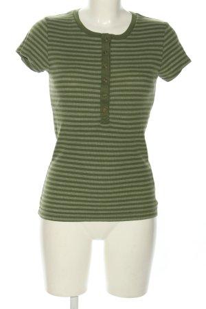 Only Prążkowana koszulka zielony Wzór w paski W stylu casual