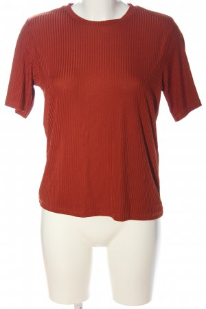 Only Ribbed Shirt red casual look