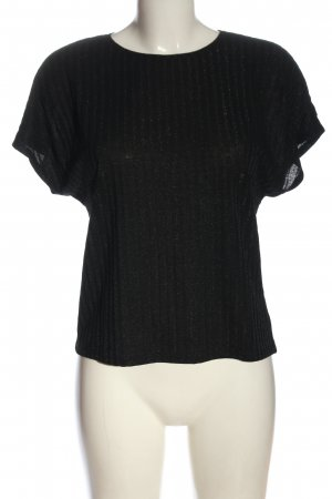 Only Ribbed Shirt black casual look