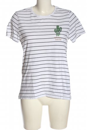 Only Ribbed Shirt white-black themed print casual look