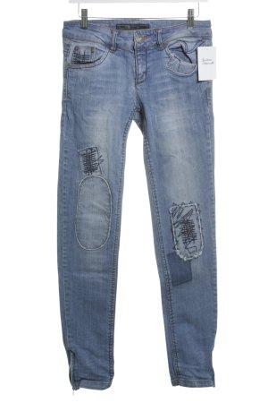 Only Röhrenjeans kornblumenblau Jeans-Optik